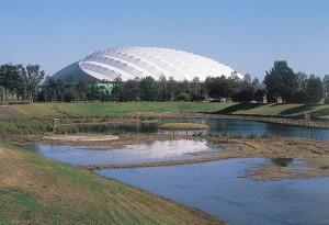 埼玉県熊谷スポーツ文化公園 熊谷ドーム 外観