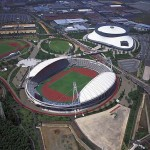 Kumamoto Prefectural Sports Park, Athletic Stadium (Outer appearance)