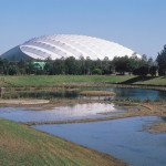 Kumagaya Dome in Kumagaya Sports & Culture Park (Outer appearance)